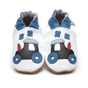 Suaves Zapatos De Cuero Del Bebé Tractor 6-12 meses por Cherry Kids