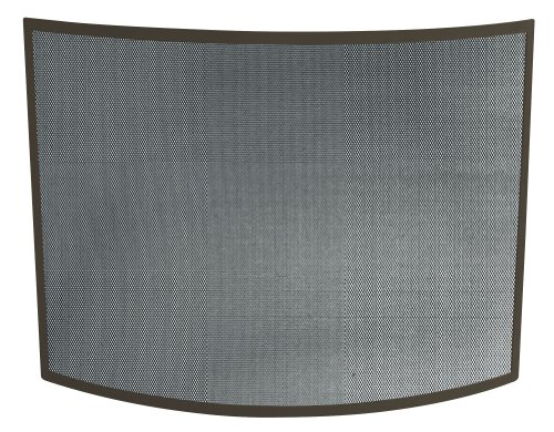 Uniflame Single Panel Curved Bronze Wrought Iron Screen front-1054125
