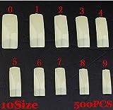 Waleborn Global® False Nail 500Pcs French Tips Natural Half Cover