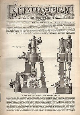 1896 Scientific American Supp January 25-Stannerhorn Swiss; Sewers Of Paris