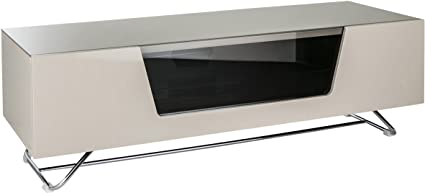 Alphason Chromium Ivory TV Stand for up to 60 inch TVs