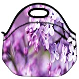 Snoogg Flores Lindas Travel Outdoor Carry Lunch Bag Picnic Tote Box Container Zip Out Removable Carry Lunchbox Handle Tote Lunch Bag Food Bag For School Work Office