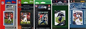 NFL Seattle Seahawks 5 Different Licensed Trading Card Team Sets by C&I Collectables