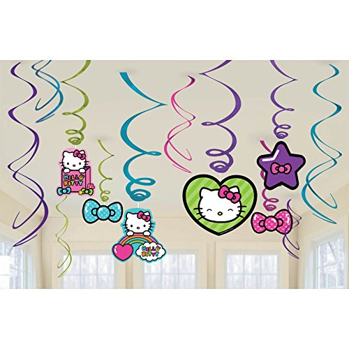Amscan Hello Kitty Rainbow Swirl Decorations