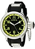 Invicta Men's 1433 Russian Diver Black Dial Rubber Watch