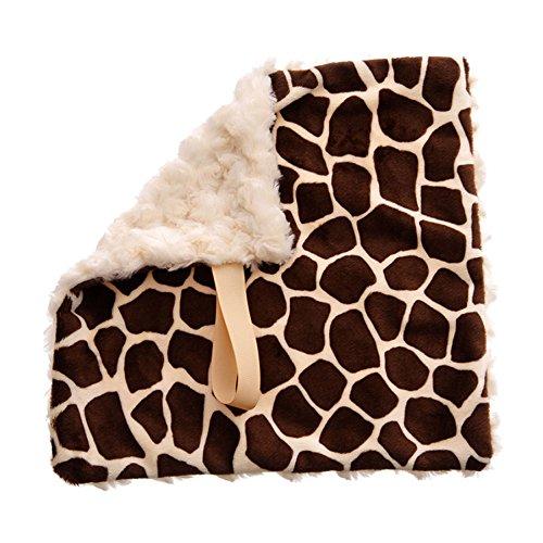 BBEmerald Baby Pacifier Blanket, Cream Giraffe