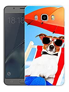 "Dog Beach Life Printed Designer Mobile Back Cover For ""Samsung Galaxy J5 2016 Edition"" (3D, Matte, Premium Quality Snap On Case)"