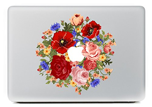 Vati Leaves Removable Colorful Flower Vinyl Decal Sticker Skin for Apple Macbook Pro Air Mac 13