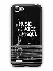 YuBingo Music is the Voice of your Soul Designer Mobile Case Back Cover for Vivo V1