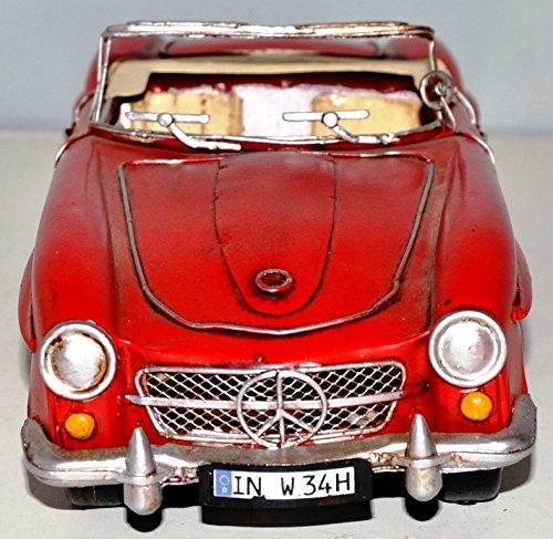 Vintage Car MB SL 190 1955 Blechauto Blechmodell Metal Tin Vintage Car Model 37330 29 CM