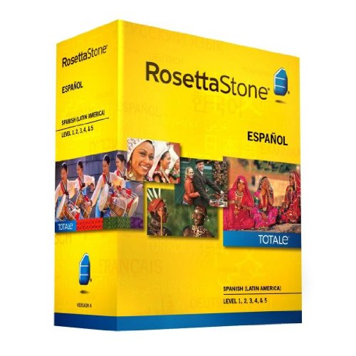 Rosetta Stone Spanish (Latin American) Version 4 TOTALe Level 1-4 Set