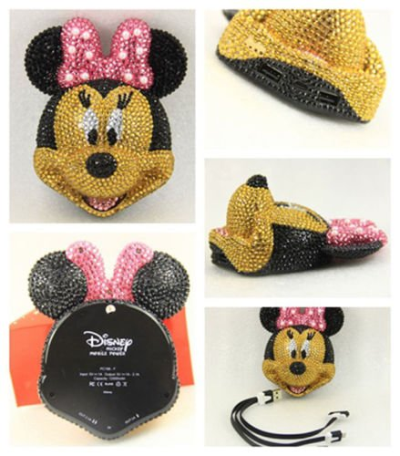 New Shop Mickey Mouse 11000Mah Portable Battery Usb Charger Mobile Power For Phone Iphone