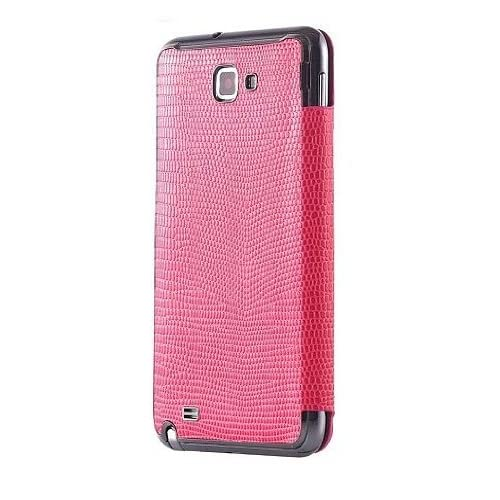 Anymode Leather Flip Case Cover for Samsung Galaxy Note SGH I717 (Pink)