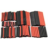 HeroNeo® 150pcs 2:1 Black&Red Polyolefin Heat Shrink Tubing Tube Sleeving Wrap Wire Kit