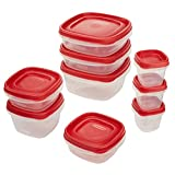 Rubbermaid Easy Find Lids Food Storage Container, 18-Piece Set, Red (1777170)