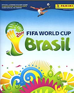 2014 FIFA World Cup Brazil Panini 72 Page Collectors Stickers Album with Bonus 10 Mint World Cup Stickers !