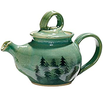 Handcrafted Forest Trees Teapot