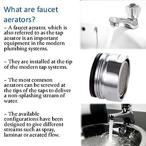 3 Packs Low Flow Faucet Aerator 24 mm Male Thread Faucet Bubbler