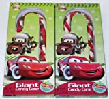 Disney Cars Giant Candy Canes, Lightning McQueen & Mater - Set of 2