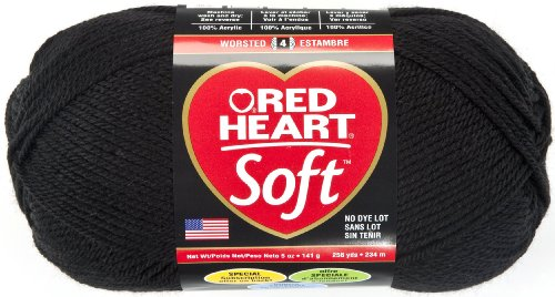 Red Heart  Soft Yarn, Black (Studio Knitting Machine compare prices)