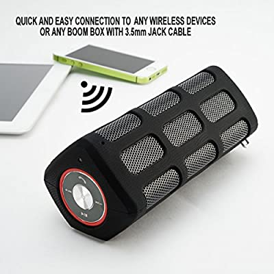 Bluetooth Speakers, Power Bank, Wireless, Waterproof and Rugged. PHI Sports and Outdoors Offers Best Portable Hands Free Universal Marine Stereo Speaker Ever Great for Outdoors, Indoors, Car, & Shower