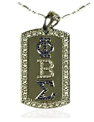 Phi Beta Sigma Ice Dog Tag with Chain ~