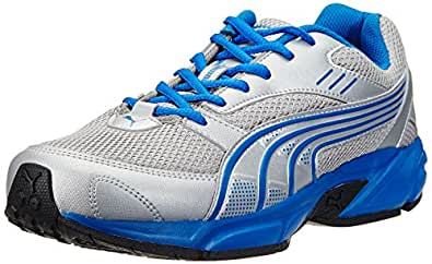 Puma Men's Pluto DP Puma Silver-Snorkel Blue Running Shoes - 10UK/India (44.5EU)