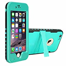 buy Light Blue Redpepper Underwater Waterproof Fingerprint Scanner Stand Shockproof Snowproof Dirtproof Durable Full Sealed Protection Case Cover For Iphone 6S Plus 5.5""