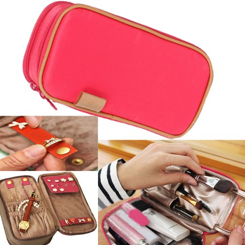 Waterproof Bag Organiser/Cosmetic Case/Jewellery Case/Travel Organiser(Pink)