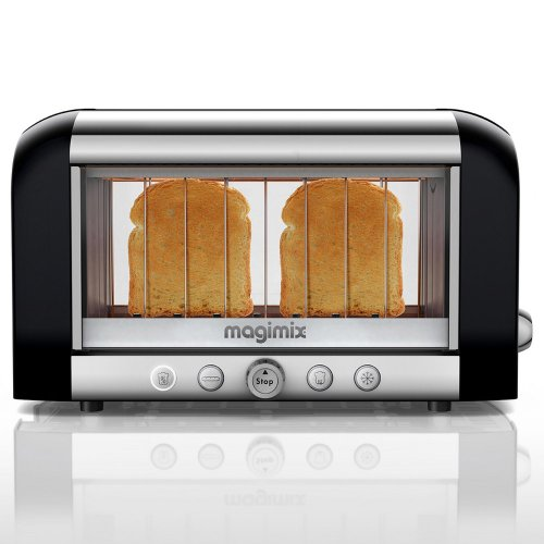 Magimix Colored Vision Toaster: Black