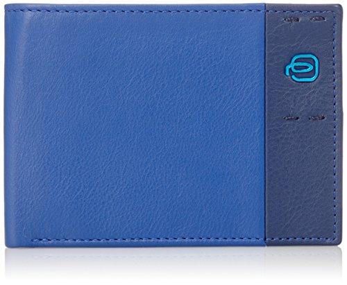 Piquadro PU1392P15/BLU Portafoglio, Linea Pulse, Blu, 12 cm