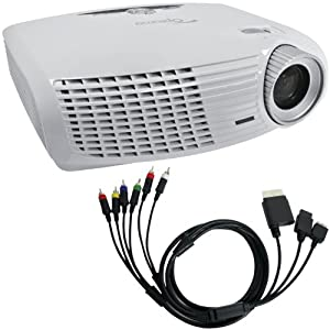 Optoma 815825014183 HD20 1080p Home-Theater Projector with Madcatz Universal 7-Feet Component Cable