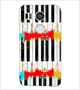 PrintDhaba Piano D-4695 Back Case Cover for LG NEXUS 5X (Multi-Coloured)