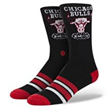 Stance Chicago Bulls Socks - Black/Red/White, Large/X-Large