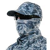Aqua Design Fishing Sun Mask Camo Multipurpose Face Wind Sun Protection Head Tube Sizes Youth to Adult XL Fishing Hunting Gaiter, Misty Sky, M