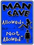 Man Cave Blue Girls Metal Parking Sign from Redeye Laserworks