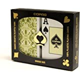Copag Bridge Size Jumbo Index Misto Saraswati Playing Cards (Green/Orange Setup)