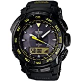 CASIO PROTREK PRG-550-1A9 TOUGH SOLAR TRIPLE SENSOR BLACK YELLOW WATCH NEW