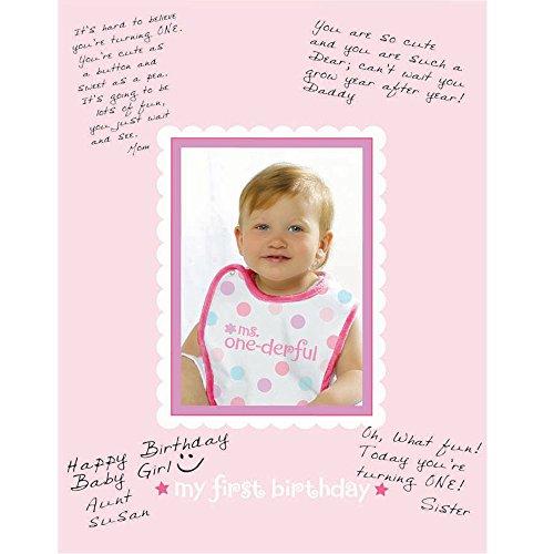 Amscan BB100910 1st Birthday Girl Autograph Frame - 1