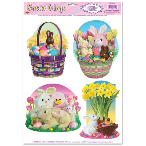 Easter Candy Clings Party Accessory (1 count) (4/Sh) - 1