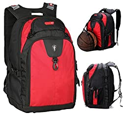 Victoriatourist V6020 Expandable Laptop Backpack with Ipad/surface Sleeve Fits Macbook Pro/14-inch Laptops, Red