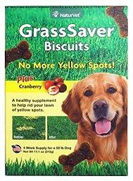 NaturVet GrassSaver Dog Biscuits - 11.1 oz Box