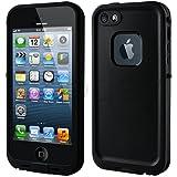 【全13色】iphone5/iphone5s対応ケース 生活防水、防塵、耐衝撃アイフォン5ケース カバー (ブラック)