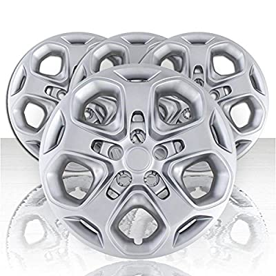 "Set of Four 17"" Silver ABS Wheel Covers for 2010-2012 Ford Fusion (Push-on)"