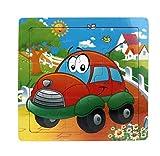 Ularma Lindo Juguetes de madera de los cabritos Jigsaw para la educaci�n de los ni�os y Puzzles juguetes de aprendizaje (multicolor19)