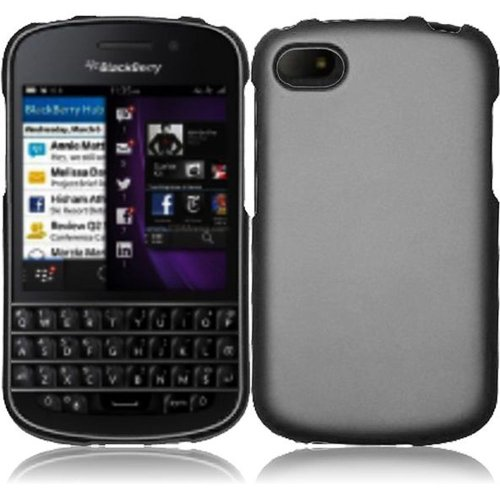 Cell Accessories For Less (Tm) For Blackberry Q10 Rubberized Cover Case - Gray // Free Shipping By Thetargetbuys