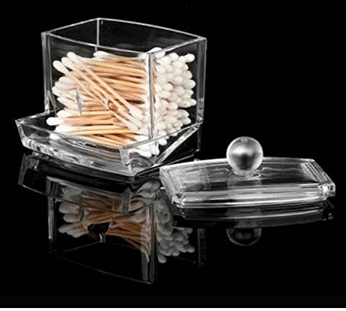 Q-tip Storage Boxes Cotton Swab Holder Clear Acrylic Cosmetic Makeup Case Hotel Supplies by MarbellStore (Ultrasonic Egg Humidifier compare prices)