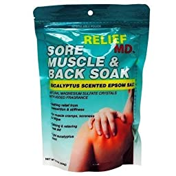 Relief Md Sore Muscle & Back Soak Eucalyptus Scented Epsom Salt - 16 Oz. (10 pack)