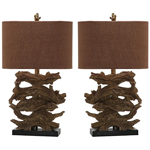 Safavieh Lighting Collection Forester Brown 26.5-inch Table Lamp