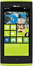 BLU Win JR LTE Smartphone (4,5 Zoll (11,4 cm) Touch-Display, 8 GB Speicher, Windows 8.1) gelb